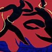 Dancing Scissors 24 Art Print