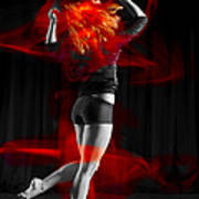Dancing With My Hair On Fire Art Print