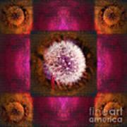 Dandelion In Flame Art Print