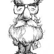 Daniel Dennett, Us Cognitive Scientist Art Print by Gary Brown