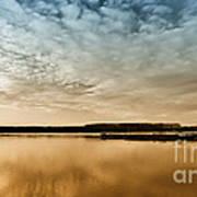 Danube River-sunset Art Print