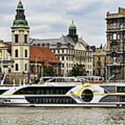 Danube Riverboat In Budapest Art Print