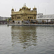 Darbar Sahib And Sarovar Inside The Golden Temple Art Print