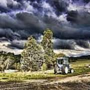 Dark Clouds Over The Farm Art Print