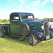 Dark Green 1936 Chevy Pickup Photograph By Randall Stone