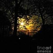 Dark Heart Moon Art Print