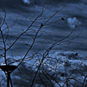 Darkblue Art Print by Amr Miqdadi