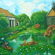 Daughters Of The Lotus Pond Art Print