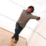 Dave Climbs The Wall Art Print
