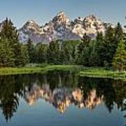 Dawn At Schwabacher Landing Art Print