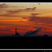 Dawn At The Power Plant Art Print