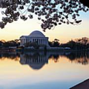 Dawn Over Jefferson Memorial Art Print