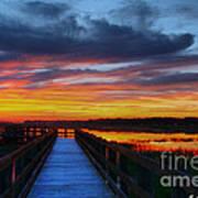 Dawn Skies At The Fishing Pier Art Print