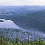 Dawson City And The Yukon River Art Print
