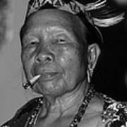 Dayak Woman Art Print