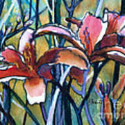 Daylily Stix Art Print by Kathy Braud
