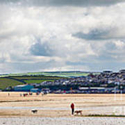Daymer Bay Beach Landscape In Cornwall Uk Art Print