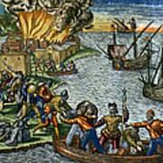 De Bry: Chicora, 1590 Art Print
