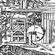 De Re Metallica, Ventilation Of Mines Art Print