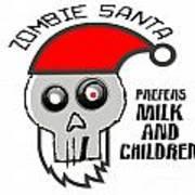 Dead Santa Eats Art Print
