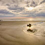 Debris On The Beach - Hunting Island Sc Art Print