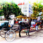 Decatur Street At Jackson Square Art Print by Bill Cannon
