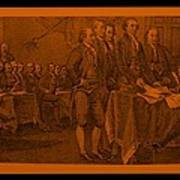 Declaration Of Independence In Orange Art Print