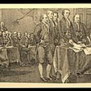 Declaration Of Independence In Sepia Art Print