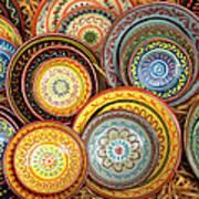 Decorative Plates Provence France Art Print