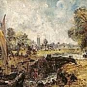 Dedham Lock Print by John Constable