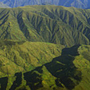 Deep Canyons Drain To Rio Apurimac Art Print