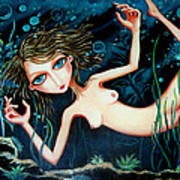 Deep Pond Dreaming Art Print