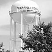 Deerfield Beach Tower In Black And White Art Print
