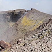 Degassing North Crater With Fumarolic Art Print