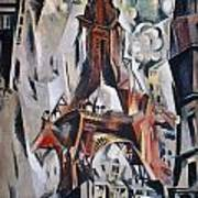 Delaunay: Eiffel Tower, 1910 Art Print