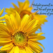 delight yourself in the Lord... Art Print