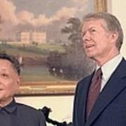 Deng Xiaoping And Jimmy Carter Art Print by Everett
