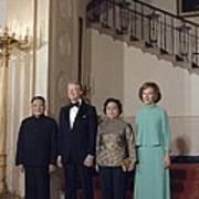 Deng Xiaoping Jimmy Carter Madame Zhuo Art Print