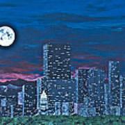 Denver Moon Art Print
