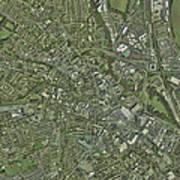 Derby, Uk, Aerial Image Art Print
