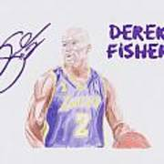 Derek Fisher Print by Toni Jaso