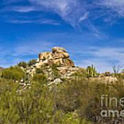 Desert Boulders Art Print