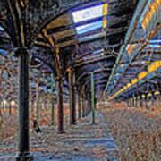 Deserted Railroad Platforms Art Print