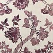 Design For A Silk Damask Art Print