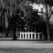 Destrehan Plantation In Black And White Art Print