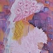 Pink Hat Beauty Art Print