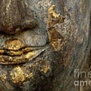 Detail Buddhas Lips Art Print