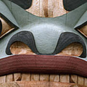 Detail Of A Totem Pole Art Print