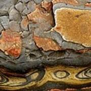 Detail Of Eroded Rocks Swirled Art Print