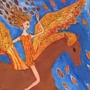 Detail Of Wild Winds Of Autumn Art Print